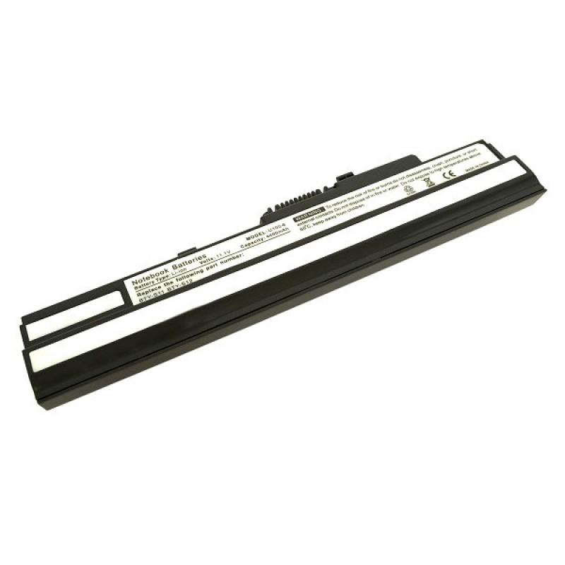 Батарея MSI Wind U90, U100, Advent 4211, Medion Akoya Mini E1210, MyBook M11 Freedom, Tsunami Moover T10, 11,1 V 4400 mAh, BTY-S12, черный, аккумулятор для ноутбука