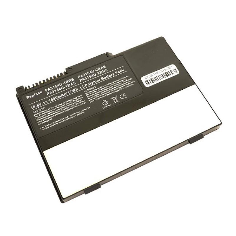 Батарея Toshiba Portege 2000, 2010, R100, 10,8 V 1600 mAh, PA3154U-1BRS, черный, аккумулятор для ноутбука