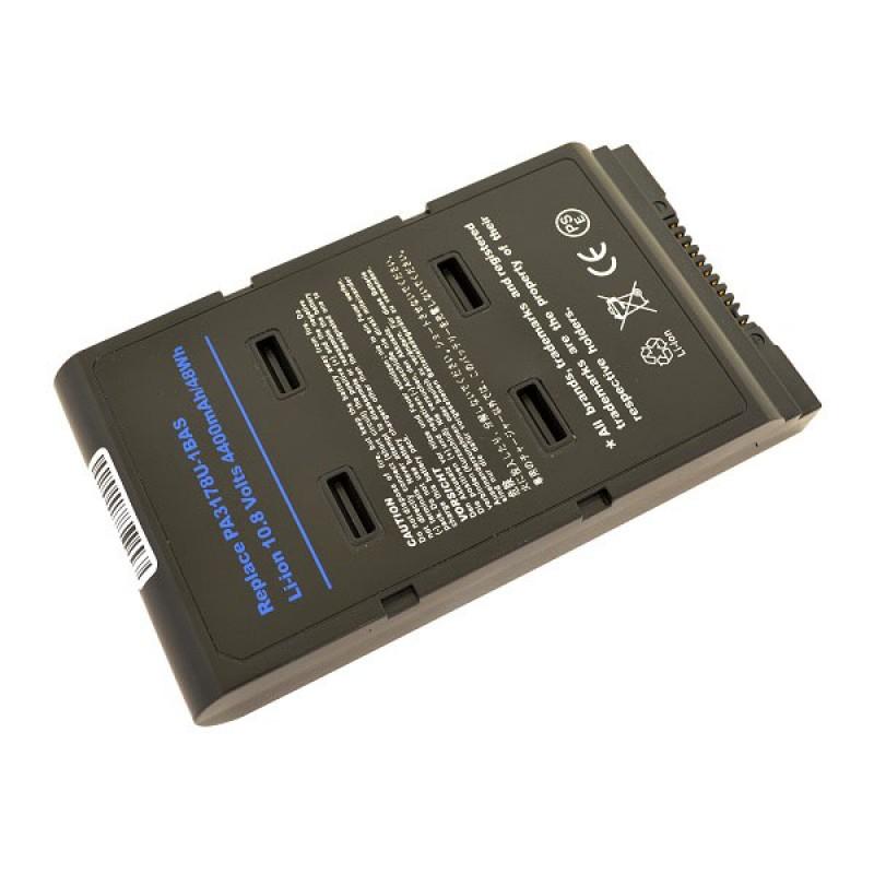 Батарея Toshiba Satellite 5000, 5005-S504, 5100, 5105-S501, 5105-S607, 5105-S608, 5105-S701, Portege A100, 10,8 V 4400 mAh, PA3178U-1BAS, черный, аккумулятор для ноутбука