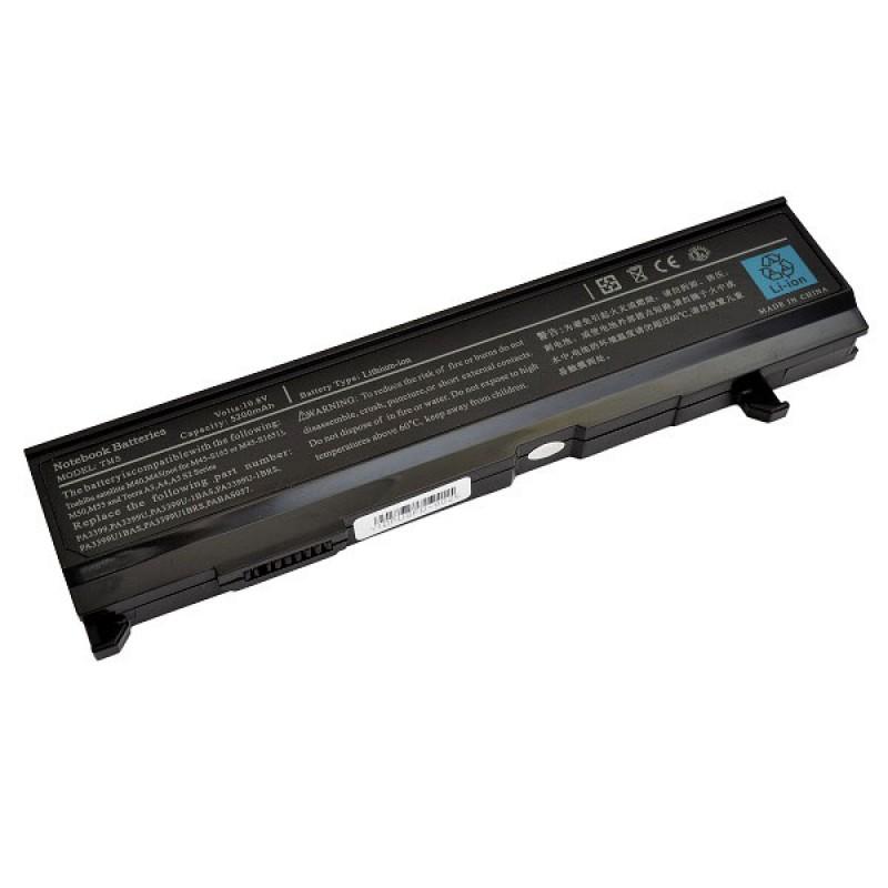 Батарея Toshiba Dynabook CX, VX, Equium A100, M50, Satellite A80, M40, Satellite Pro A100, M50, Tecra A3, S2, 10,8 V 5200 mAh, PA3399U, черный, аккумулятор для ноутбука
