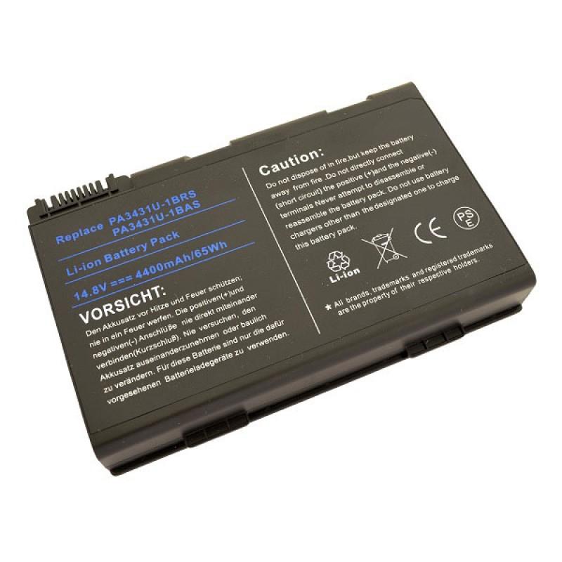 Батарея Toshiba Satellite M60, M65, 14,8 V 4400 mAh, PA3431U, черный, аккумулятор для ноутбука