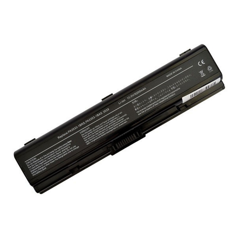 Батарея Toshiba Dynabook Satellite T30, AX, TX, Equium A200, Satellite A200, L203, M200, Satellite Pro A200, 11,1 V 5200 mAh, PA3534U, черный, аккумулятор для ноутбука