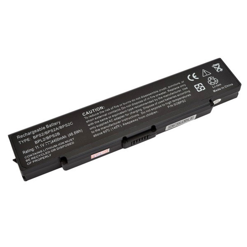 Батарея Sony AR, FE, FS, FJ, FS, S, SZ Series, 11,1 V 4400 mAh, VGP-BPS2C, черный, аккумулятор для ноутбука