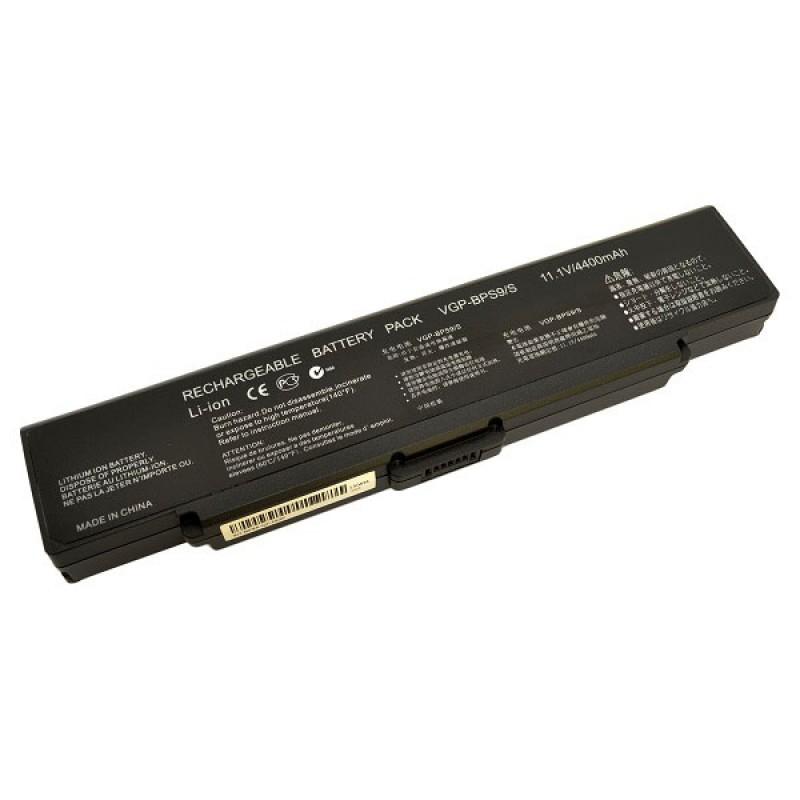 Батарея Sony Vaio VGN-NR260E, VGN-CR, VGN-AR Series, 11,1 V 4400 mAh, VGP-BPS9B, черный, аккумулятор для ноутбука