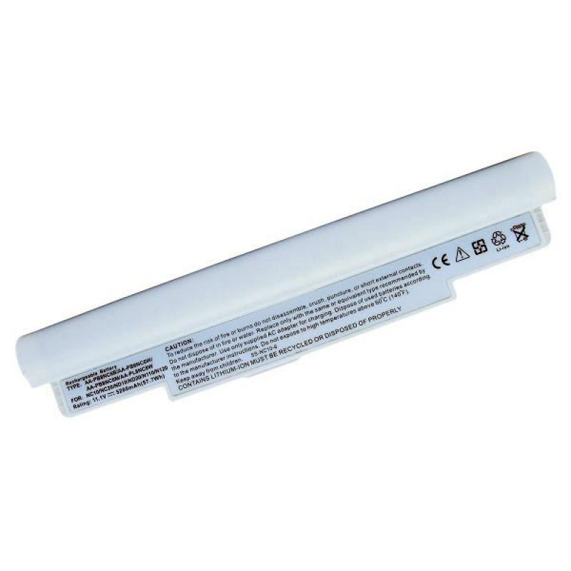 Батарея Samsung NC10 Series, NC20 Series, N110 Series, N120 Series, 11,1 V 5200 mAh, AA-PB6NC6W, белый, аккумулятор для ноутбука