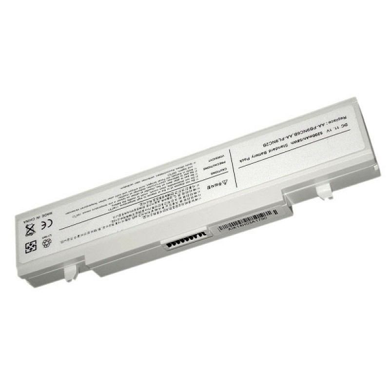 Батарея Samsung X460, X360, R710, R610, R510, R505, R460, Q320, Q310, Q210, P560, P460, P210, 11,1 V 5200 mAh, AA-PB9NC6B, белый, аккумулятор для ноутбука