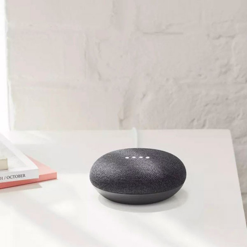 Умная колонка Google Home Mini Charcoal, смарт-колонка с голосовым помощником